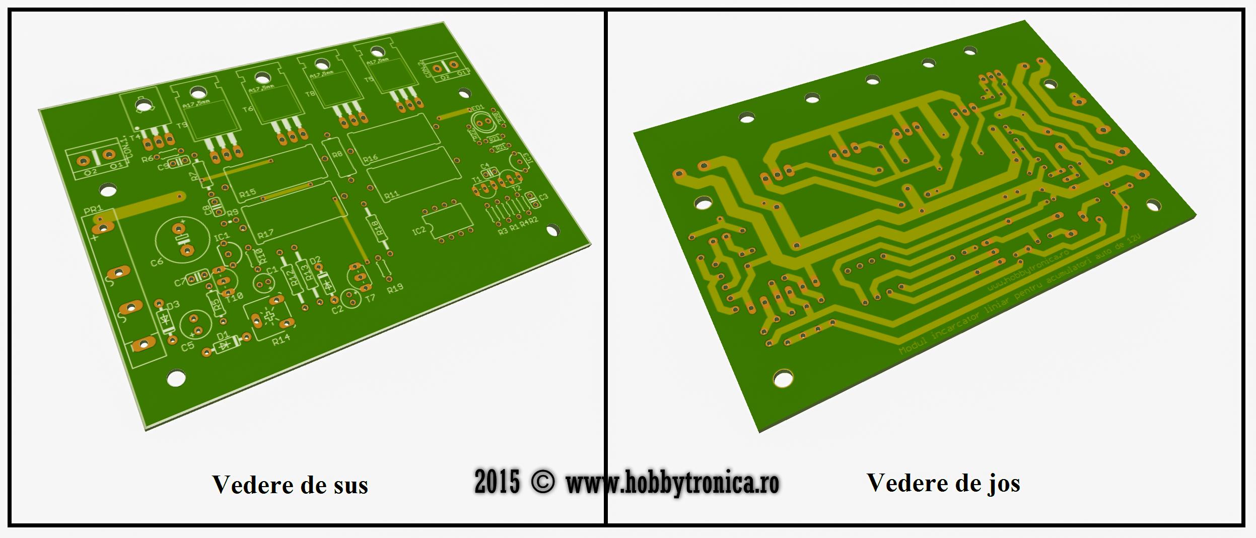 Figura 3. Modelul 3D al PCBului - Hobbytronica